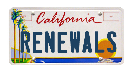 California License Plate Renewals