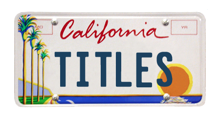 California License Plate Template Titles